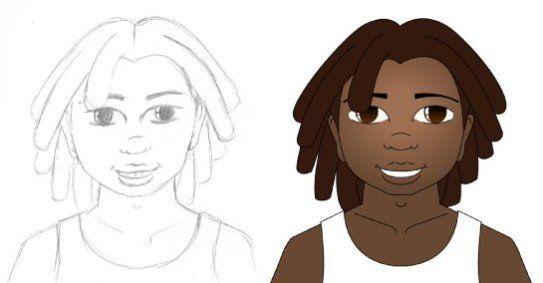 Character Design for Rheumatic Heart Disease Comic Book   QLD Health   By Corinne Jade Shardlow
