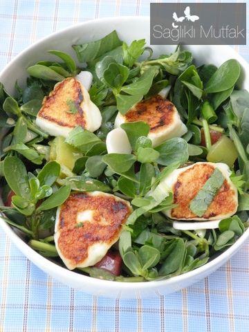 Kızarmış Antep Peynirli Ekşi Erik Soslu Pirpirim Salatası | Sağlıklı Mutfak