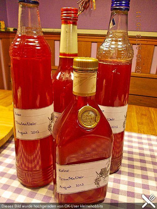 Roter Trauben - Likör