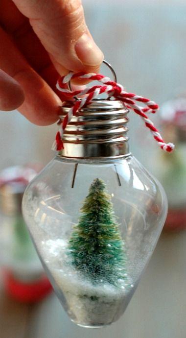 DIY Mini Snow Globe Ornaments
