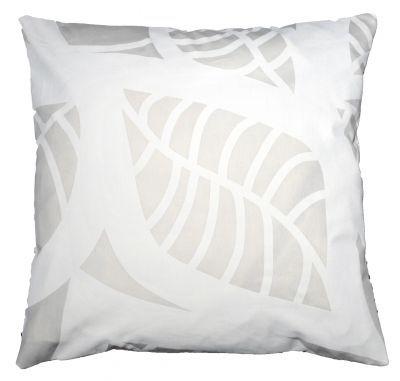 Mairo white Hosta cushion cover. Designed by Linda Svensson Edevint.