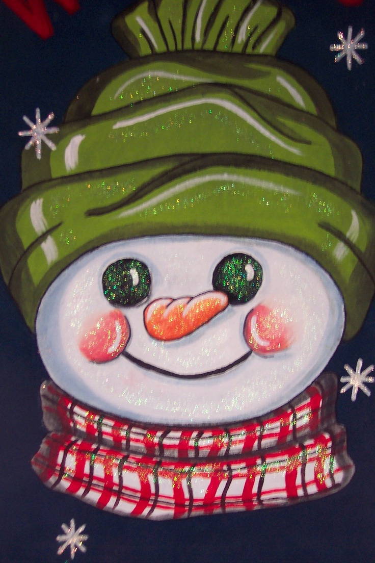 Snowman graphic -- Would translate well, using a split cake for the hat and scarf!