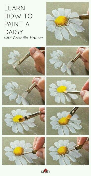 Como pintar una margarita