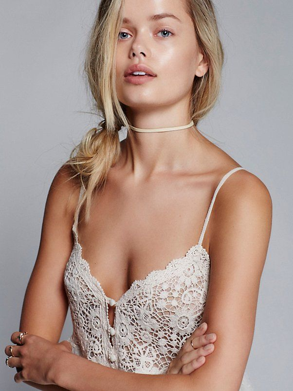 Frida Aasen || FP INTIMATELY Say Hello to Heaven Dotted Sheer -Mesh Mini Slip (Ivory)