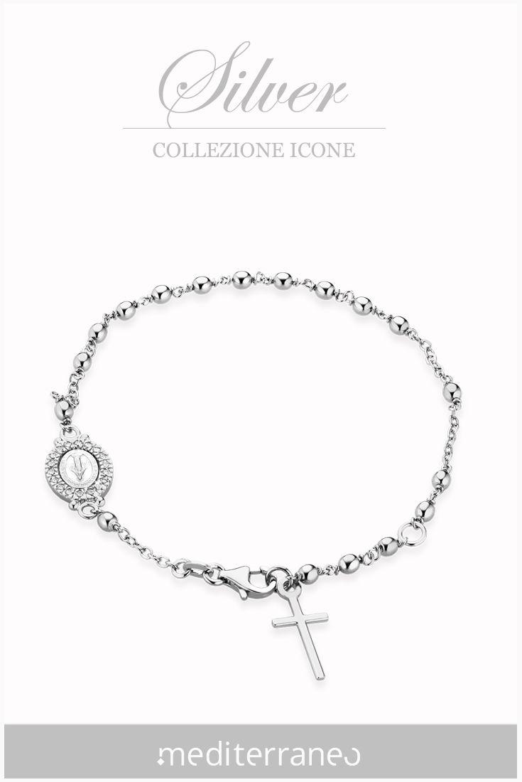 #bracciale rosario in argento.