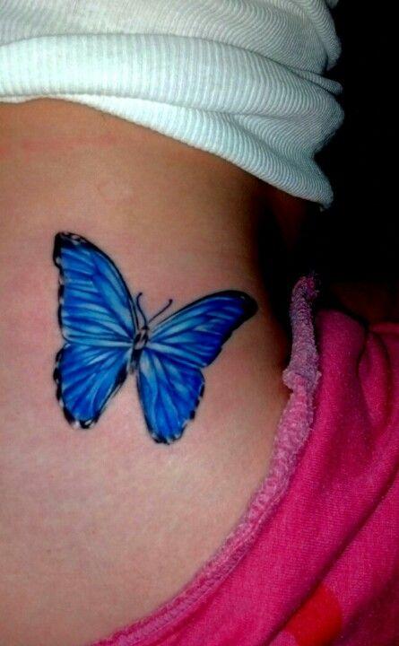 Blue morpho butterfly tattoo - photo#3