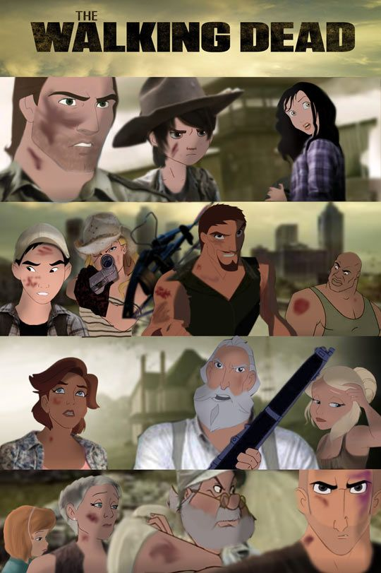 If Disney and DreamWorks created Walking Dead Oh Daryl would look so much cuter if he were animated lol