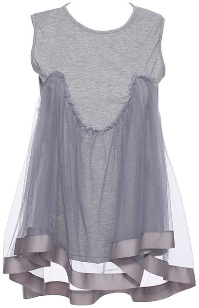 Romwe Asymmetric Dual-tone Grey Vest on shopstyle.com