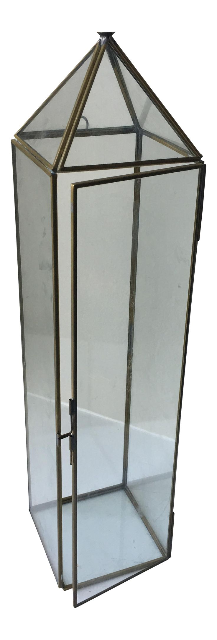 Mid-Century Obelisk Wall Terrarium on Chairish.com