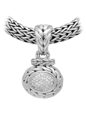 John Hardy Classic Chain Pave Diamond Oval Pendant - Love John Hardy jewelry. Pretty...