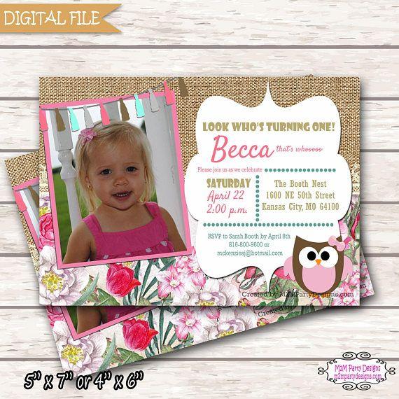 owl birthday invitations printable invitation pink gold owl by owlbirthday