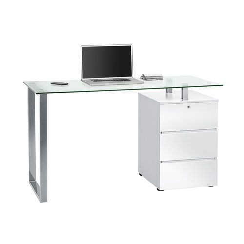 shaped top with breathtaking glass drawers office computer l desk