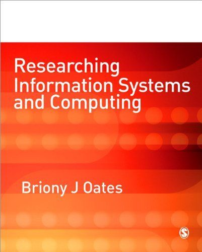 Researching Information Systems and Computing by Briony J Oates. $68.65. Edition - 1. Publisher: SAGE Publications Ltd; 1 edition (November 18, 2005). Author: Briony J Oates. Publication: November 18, 2005