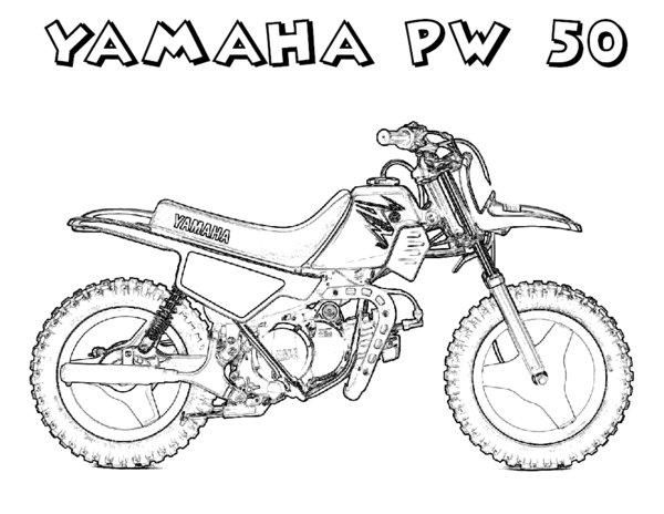 Dirt Bike Coloring Pages Yamaha Free Coloring Pages Coloring