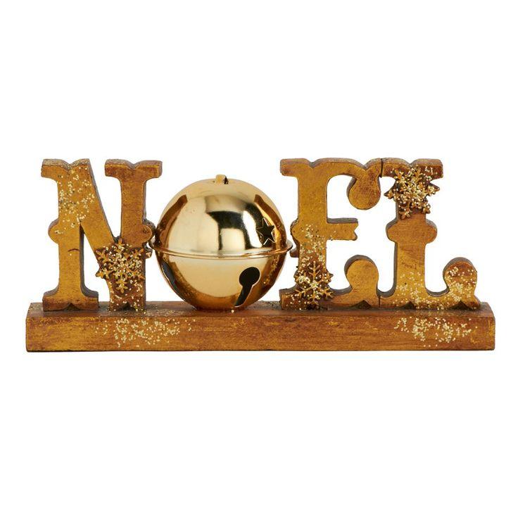 """Gold Noel Sign- 8"""""""