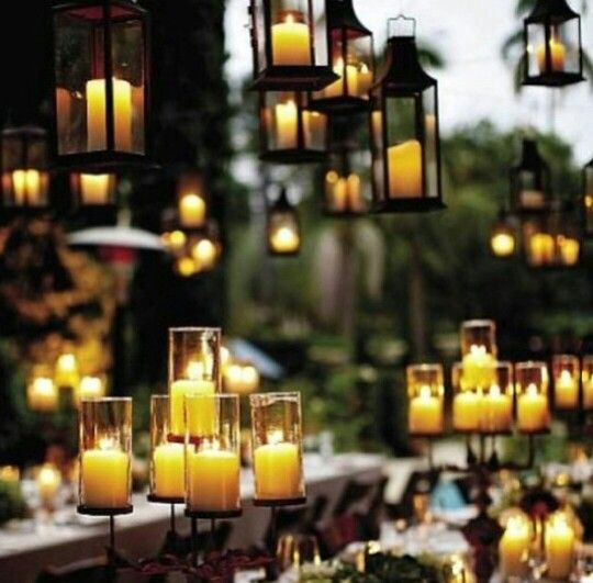 Candles set the scene perfectly