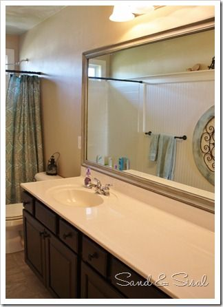 diy bathroom mirror frame on existing mirror also helpful techniques for how to paint a