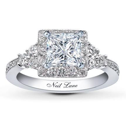 Neil Lane Princess Leo cut engagement ring at Jared. I <3 my ring and my husband. It's the most beautiful ring I have ever seen and I get compliments on it every day. :)  So glad he went to Jared and not Sears or Sams Club. He actually loves me enough!!