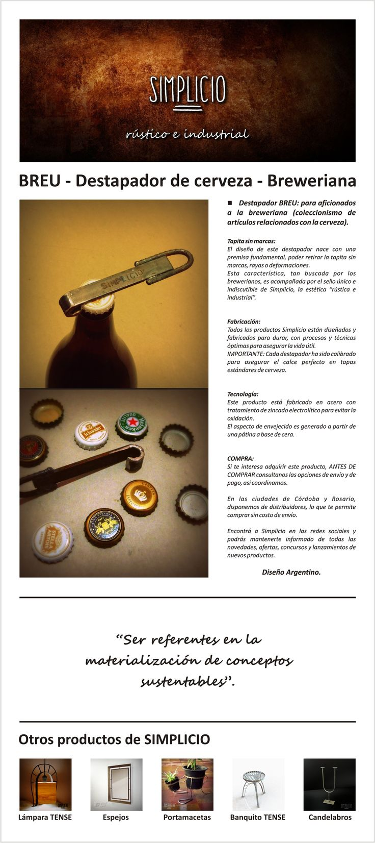 Folleto de venta - Destapador BREU - Breweriana
