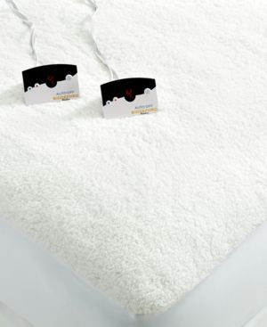 Closeout! Biddeford Quilted Sherpa Reversible Queen Heated Mattress Pad - White