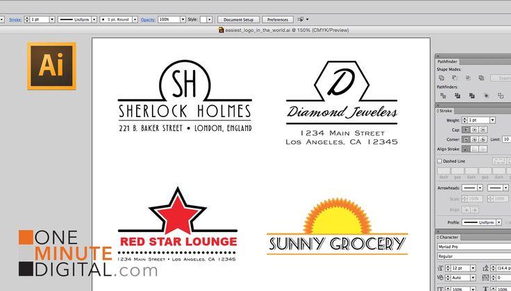 Make the Easiest Logo in the World in Adobe Illustrator #1