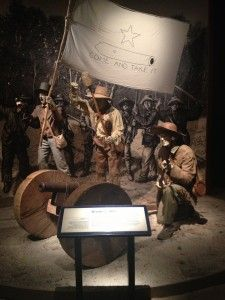 """""""Come and Take It"""" Battle of Gonzales recreated inside the Bob Bullock Texas State History museum. 