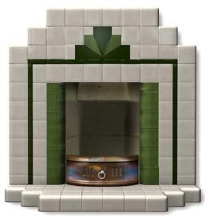 Windermere tiled fireplace