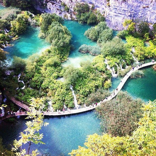 National Park Plitvička jezera. Beautiful national park with waterfall on waterfall on waterfall. Walked 5+ miles!