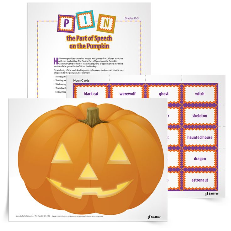 84 best grammar writing reproducibles from sadlier school images the pin the part of speech on the pumpkin grammar game combines learning the parts of fandeluxe Images