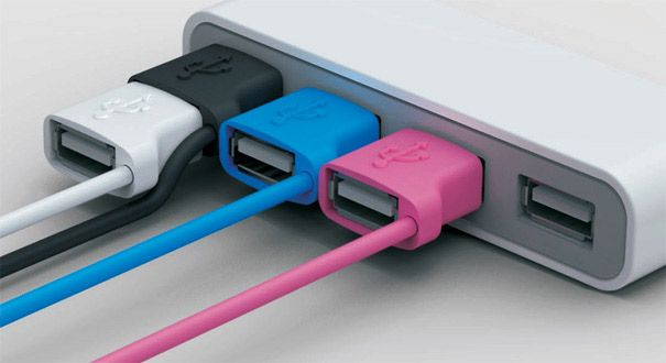 USB Multiplikator - Ally von finderly braucht sowas ... #geek #gadget: Ideas, Geek Gadgets, Cool Gadgets, Fans, Creative Offices, The Offices, Usb Port, Cords, Design