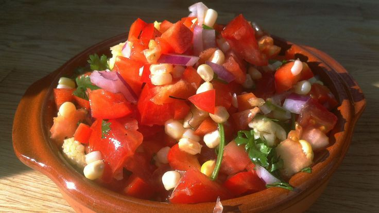 Une recette de salsa encore plus estivale que l'originale. Au menu: salsa de maïs