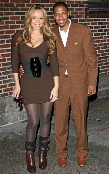 Mariah Carey and Nick Cannon wore a lot of brown that one day. So. Much. Brown. That. Day.