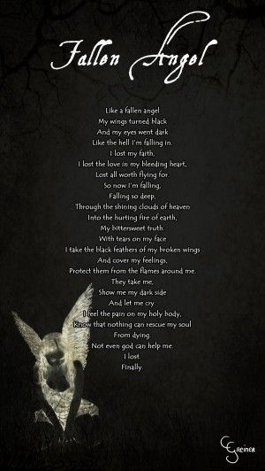 Fallen Angel Poem by carpenoctem410                                                                                                                                                                                 More