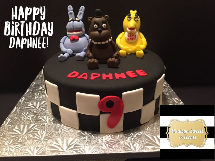 Nights At Freddy S Cake Image