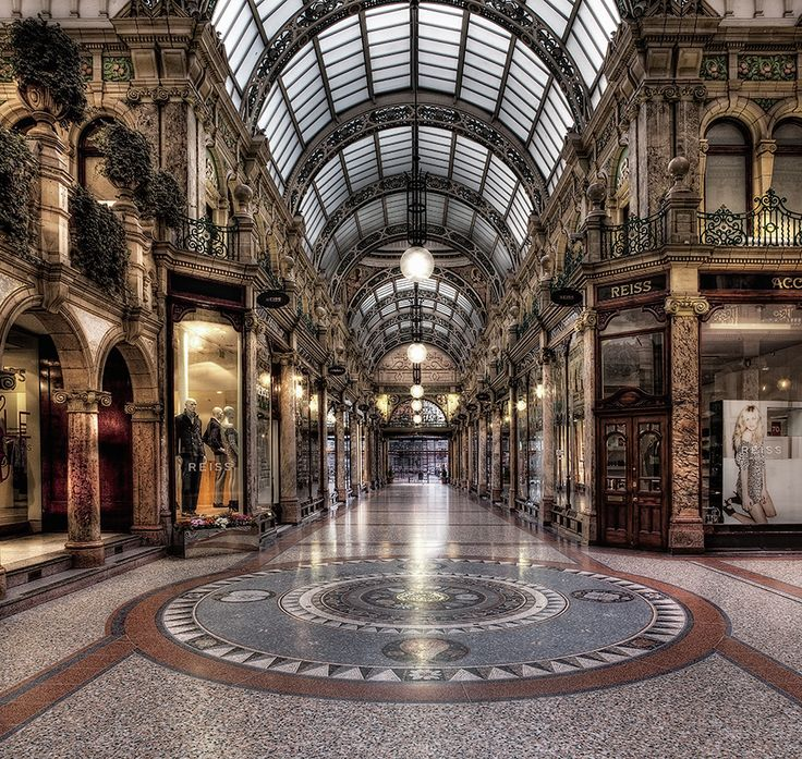 The County Arcade Leeds, part of the Victoria Quarter, dubbed the Knightsbridge of the North with its many high class brands