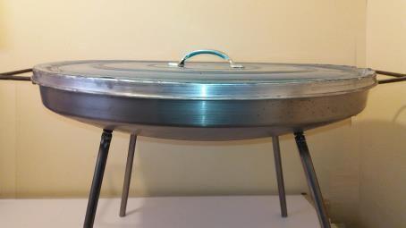 Disco para Asados en fierro 60 cm diametro con Patas Desmontables con Tapa Aluminio   www.losparrilleros.cl