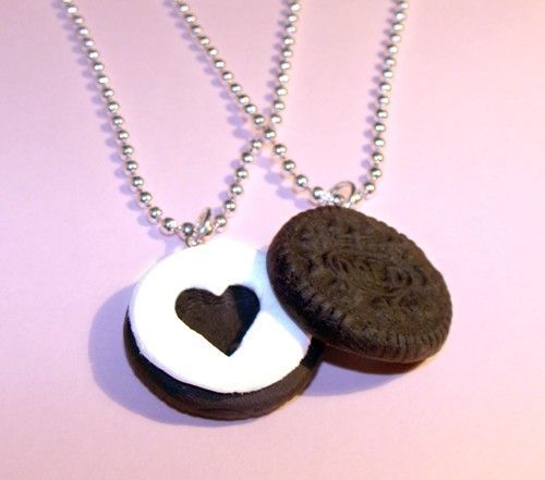 Oreo cookie heart charm necklaces: http://www.etsy.com/listing/69865832/oreo-cookie-best-friends-necklaces-bff?ref=cat1_gallery_6: Shoesaccessori, Charms Necklaces, Style, Oreo Necklaces, Jewlery, Best Friends Necklaces, Image, Oreo Cookies, Heart Charms