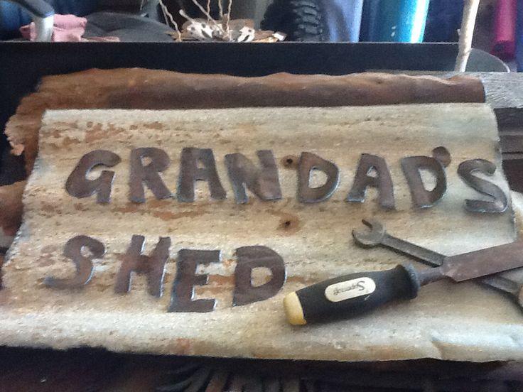 Gran dad's shed metal sign