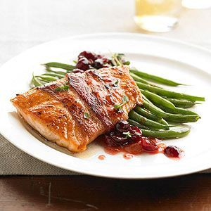 Bacon-Wrapped Salmon with Fruit Chutney From Better Homes and Gardens, ideas and improvement projects for your home and garden plus recipes and entertaining ideas.