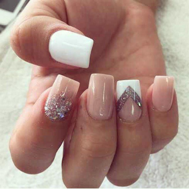 White Tip Acrylic Nail Ideas Papillon Day Spa
