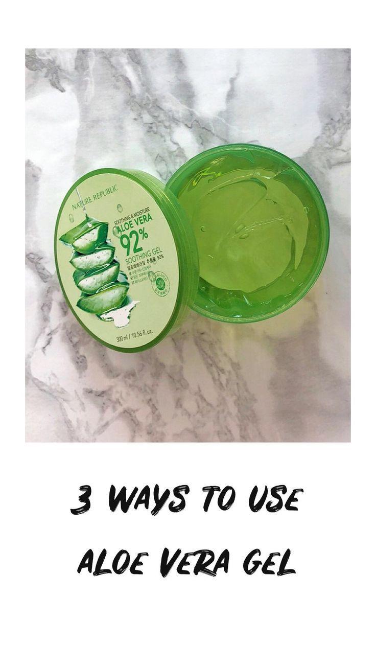 3 Ways To Use Aloe Vera Gel Aloe Vera Gel Aloe Vera Skin Care Aloe Vera Moisturizer