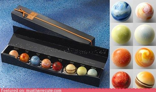 Planetary chocolates. I wonder if the included Pluto?
