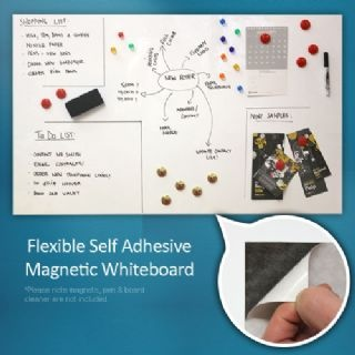 F4MFWB - Flexible Magnetic Whiteboard Sheet - Home & Office (1000 x 620mm) (x1)