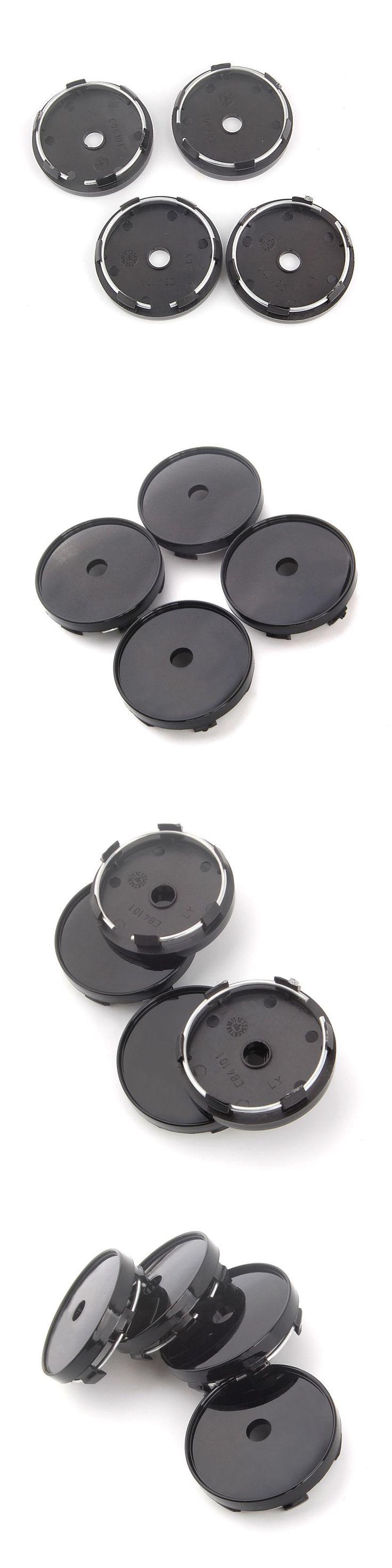 Black SUV Car Wheel Center Cap Covers 60mm Diameter Rim Hole No Logo Hubcap 4Pcs/set for RDX Q7 X1 Equinox Impala Escape