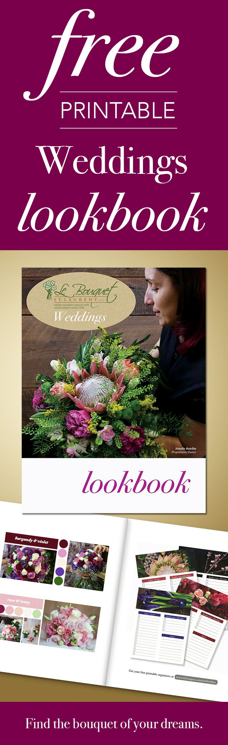 Download your free copy of Montreal based florist Le Bouquet St Laurent's wedding lookbook!  Find the wedding bouquet of your dreams!
