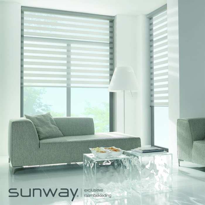 Sunway | Eclips duo-rolgordijn #design #new #White #sfeer #kokwooncenter #201605