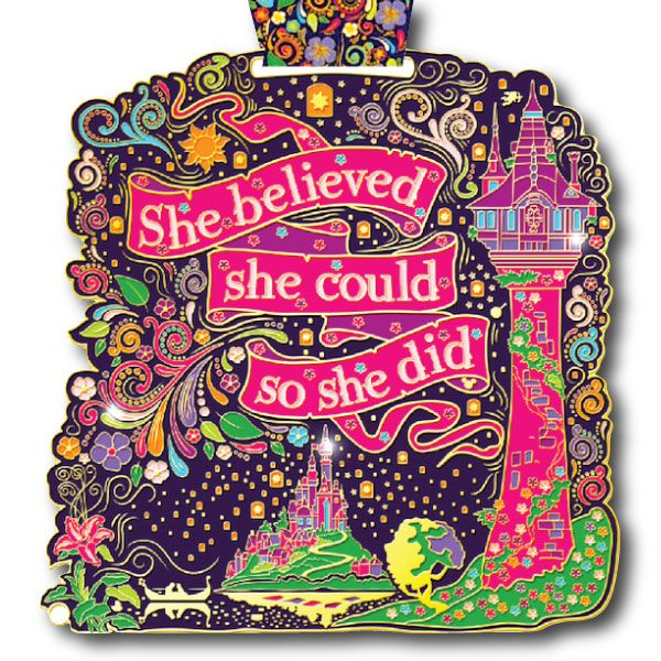 Need runDisney training motivation? She Believed She Could So She Did Virtual Run Medal, LARGE, 6 inch medal designed by starving artists at Virtual Run World, $28.00 http://virtualrunworld.com/she-believed-she-could-virtual-run-medal/ Run anytime, anywhere and any distance! Our Virtual Run World medals are available anytime to purchase, no close dates. Please join us while we raise money for The Leukemia & Lymphoma Society (LLS).