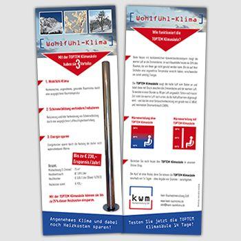 Flyer Gestaltung für KWM-Raumwärmenutzung