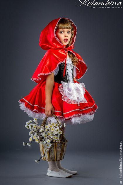 Купить или заказать Костюм Красной шапочки в интернет-магазине на Ярмарке Мастеров. карнавальный костюм Красной шапочки для девочки комплектация: платье, шапочка или накидка 134-146+300…