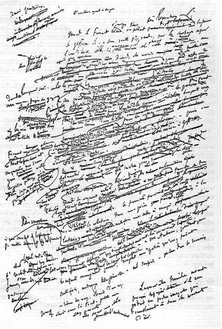 Flaubert, manuscrit de Un Cœur simple, Paris, Bibliothèque Nationale